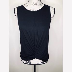 AQUA Knotted Tank Top Size M